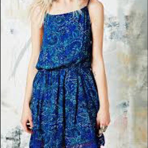 Ecote • Paisley Floral Crochet Garbie Minidress